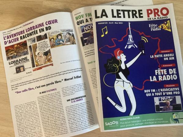 Le n° 132 du mensuel La Lettre Pro de la Radio paraît aujourd'hui. Si j'ai 5 minutes dans la matinée, je publierai sur le site, le sommaire de ce nouveau numéro qui met en avant la Fête de la radio...