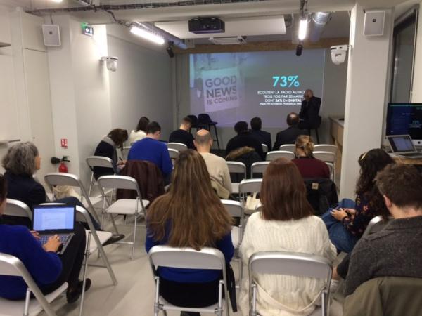 """J-1 #SalonRadio présente ce matin l'étude @InstitutCSA """"Les Français et la radio"""" avec @LagarderePNews et @RCS_Works à @letankmedia"""