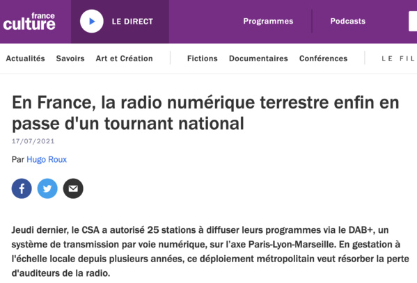 France Culture : mon avis sur le DAB+