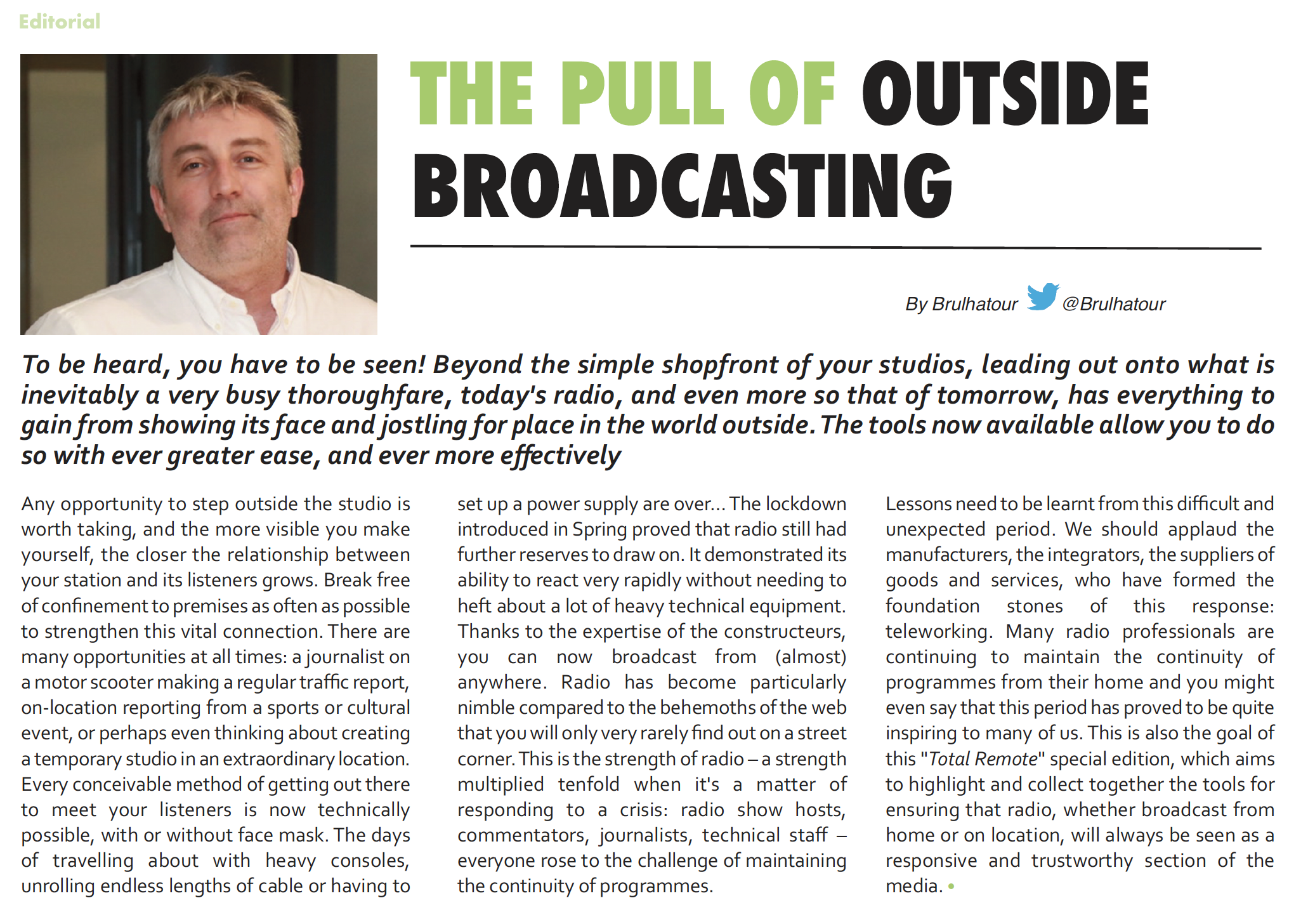 The pull of outside broadcasting