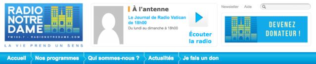 Le site de Radio Notre Dame fera également peau neuve dès ce 1er septembre
