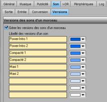 Voici le point de départ pour activer et paramétrer, dans le Library, la gestion des versions d'un son
