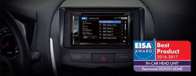 Le Kenwood DDX5016DAB élu autoradio de l'année
