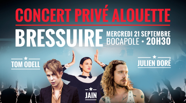 Alouette organise un concert privé