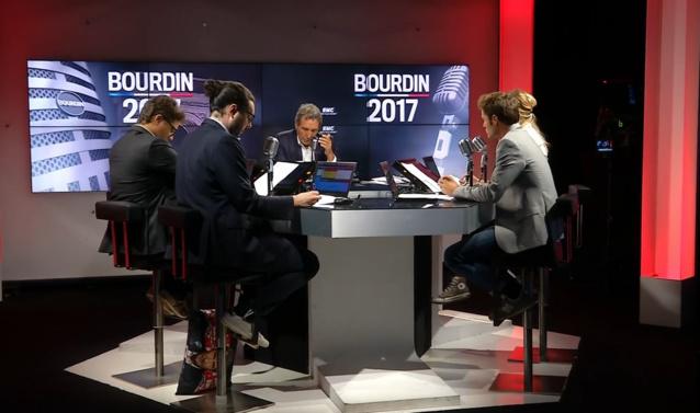 À partir de 6h, Jean-Jacques Bourdin prend les commandes de RMC. Avec Charles Magnien et Matthieu Belliard notamment, il veut offrir un show unique radio/télé en direct sur RMC et... sur RMC Découverte