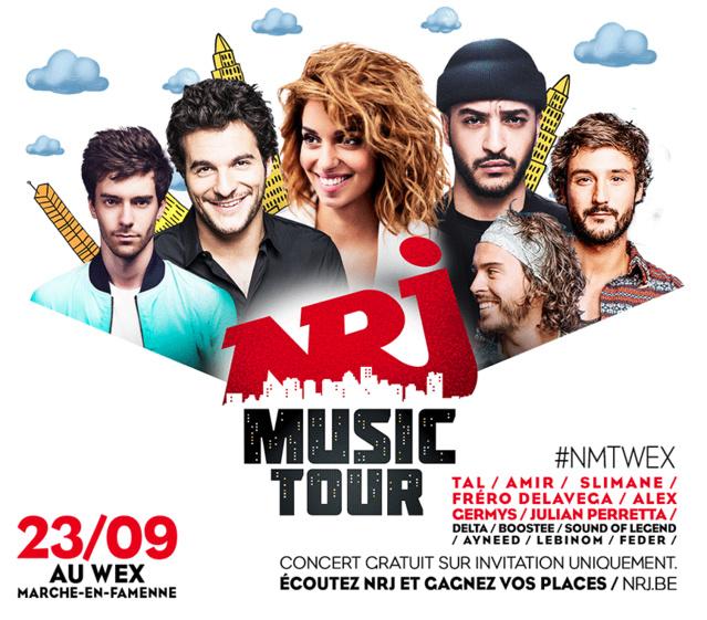 """Le """"NRJ Music Tour"""" au WEX de Marche-en-Famenne"""