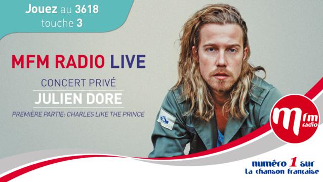 Julien Doré en concert privé avec MFM Radio