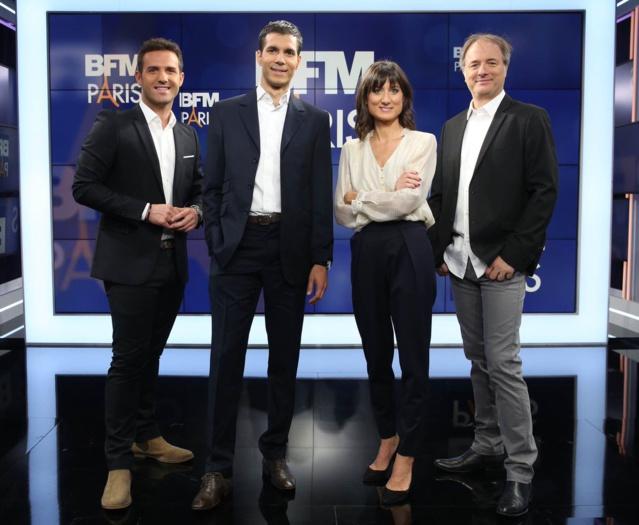 Une partie de l'équipe de BFM Paris avec Franck Duret (à droite) en charge de l'info trafic © BFM Paris