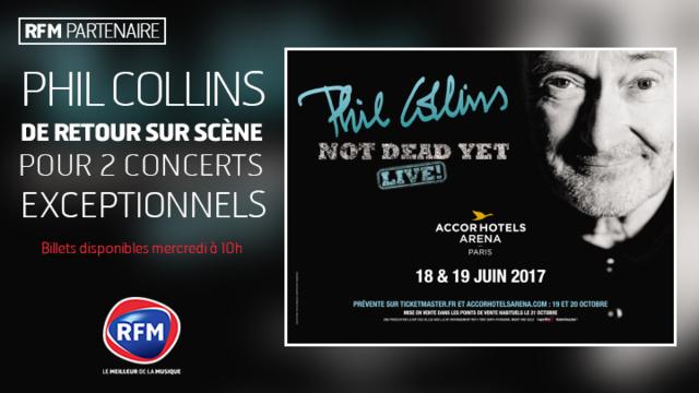 RFM partenaire des concerts de Phil Collins