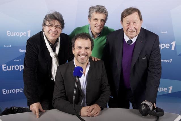 Lionel Rosso entouré de ses grandes voix du sport @ Europe 1
