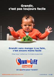 Objectif de Viva for life : récolter un maximum de fonds pour lutter contre la pauvreté infantile