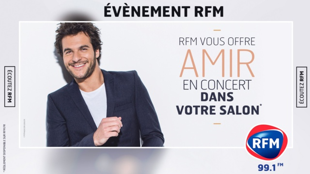 Amir, chez un auditeur, grâce à RFM à Toulouse