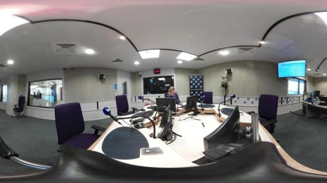 Superbe visite en 360° des studios de France Bleu Normandie © Véronique Houdan - Radio France