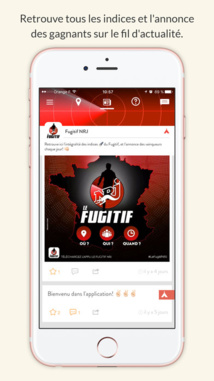 application fugitif nrj