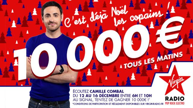 Virgin Radio : Camille Combal offre 10 000 € par jour