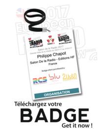 Salon de la Radio : téléchargez vite votre badge !