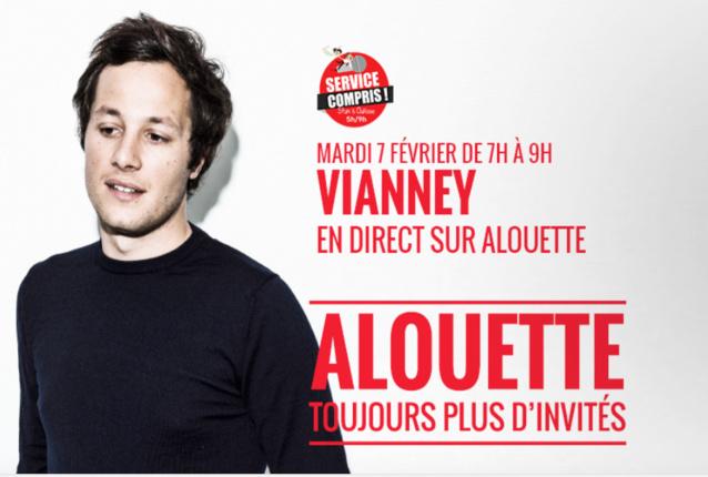 Vianney se lèvera tôt pour Alouette