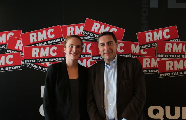 Mahauld Granier, étudiante en journalisme avec Laurent Neumann