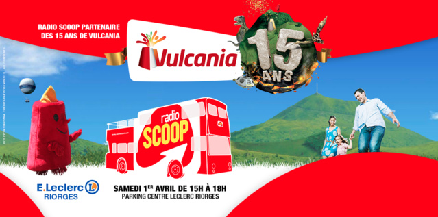 Le bus Radio Scoop célèbre Vulcania