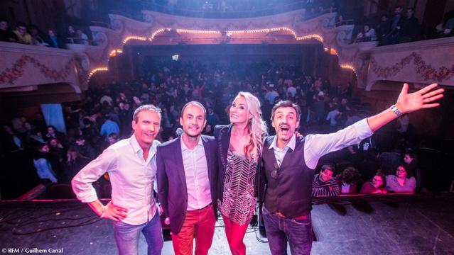 Pat Angeli, Vincent Richard, Elodie Gossuin et Albert Spano ont anilmé ce RFM Music Live © Guilhem Canal