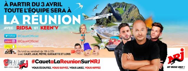 NRJ : Cauet s'envole sur l'Île de La Réunion