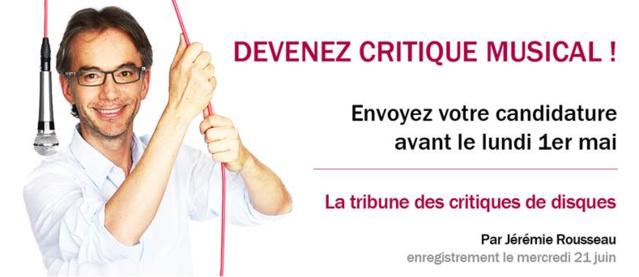 Devenez critique musical pour France Musique