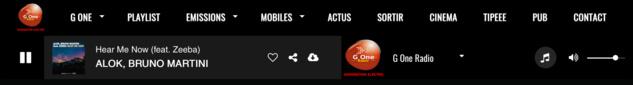 G One Radio se dote d'un nouveau site web