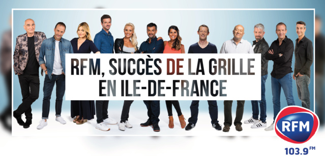 Audiences à Paris : RFM perd un demi-point sur an