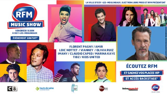 Le RFM Music Show à Issy-Les-Moulineaux le 9 juin