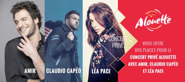 Alouette organise un concert privé à Tours