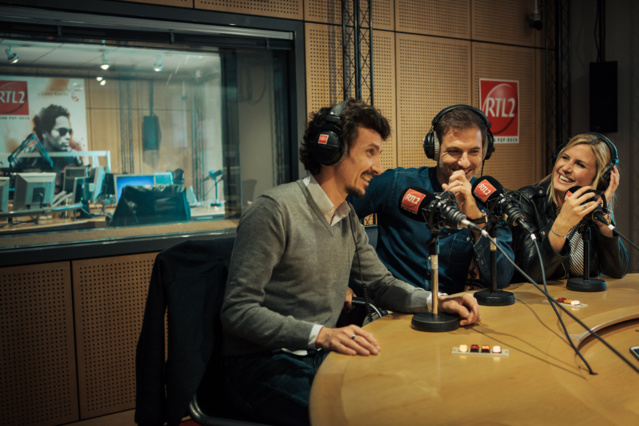 Arnaud Tsamere, Grégory Ascher et Justine Salmon. © Maxime Villalonga