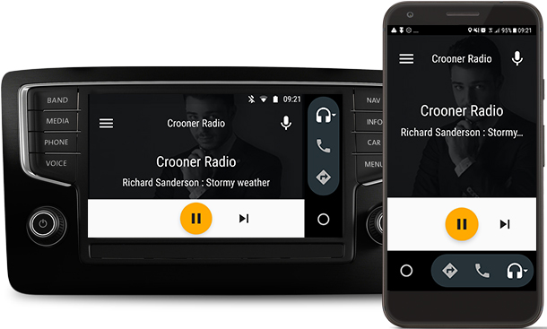 Crooner Radio se positionne dans les véhicules équipés Android Auto