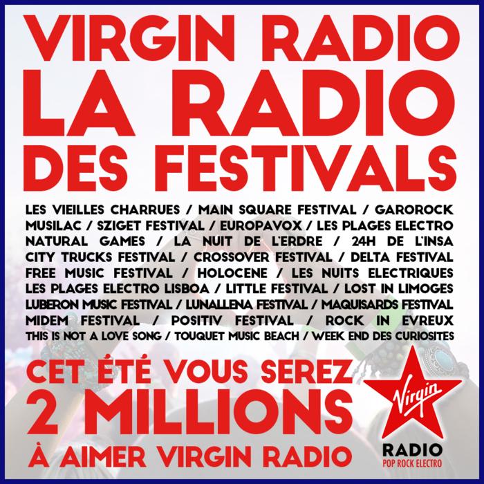 Virgin Radio : partenariats avec de nombreux festivals