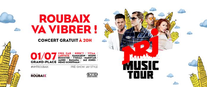 Roubaix accueille le NRJ Music Tour