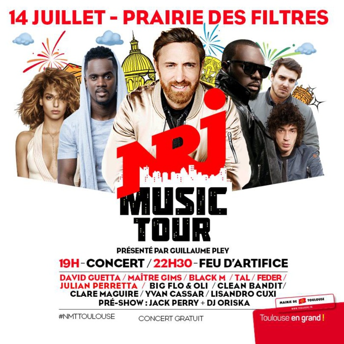 Toulouse accueille le concert NRJ Music Tour