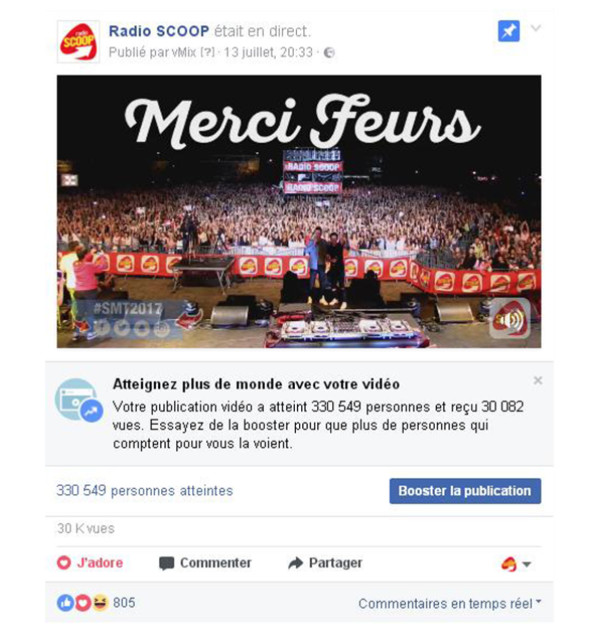 Record d'affluence pour le Scoop Music Tour 2017