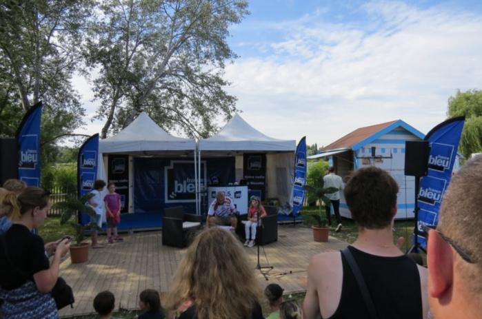 Comme en ici en 2016, et jusqu'au 15 août, France Bleu Lorraine s'est installée à Metz Plage © Radio France - France Bleu Lorraine