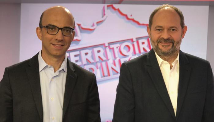 Emmanuel Kessler (Public Sénat) et Jean-Eric Valli (Les Indés Radios). Désormais, ce sont près de 8.3 millions d'auditeurs qui pourront bénéficier de la matinale de Public Sénat, en partie ou en intégralité © D.R