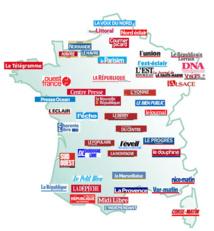 Jetez un coup d'œil sur la carte des quotidiens régionaux.