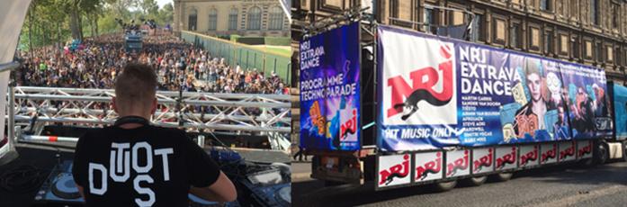 Les auditeurs suivront aussi cette Technoparade sur l'antenne NRJ grâce à la présence d'un animateur sur le char