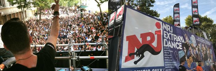 Technoparade : deux auditeurs mixent sur le char NRJ