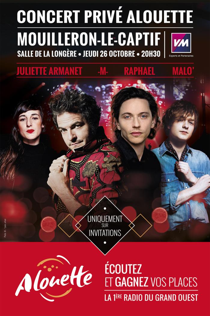 Alouette : un concert privé avec 4 artistes...<br /><br />Source : <a href=