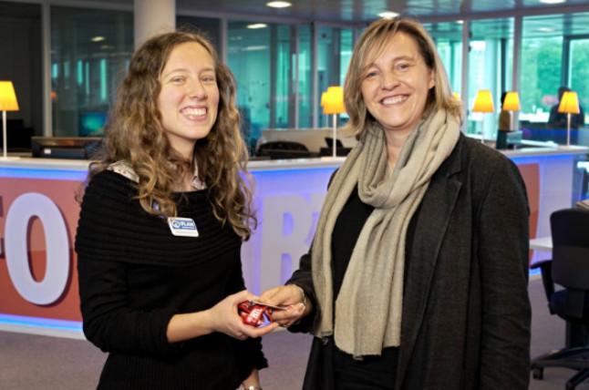 Delphine, rédactrice en chef d'un jour sur Bel RTL