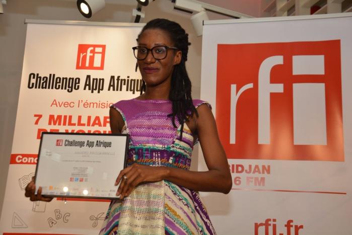 Raissa Banhoro, lauréate du RFI Challenge App Afrique