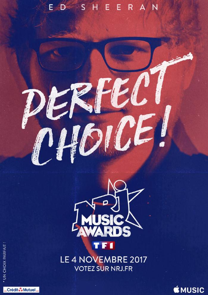 Ed Sheeran sur la scène des NRJ Music Awards