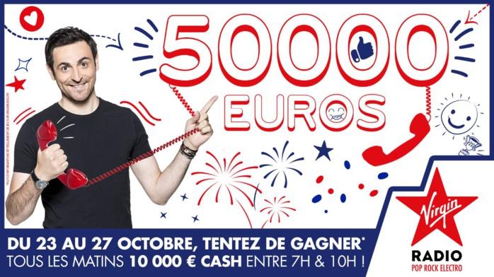 10 000 € à gagner chaque jour sur Virgin Radio
