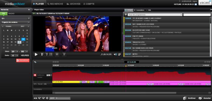 Media Archiver (capture d'écran) © Yacast