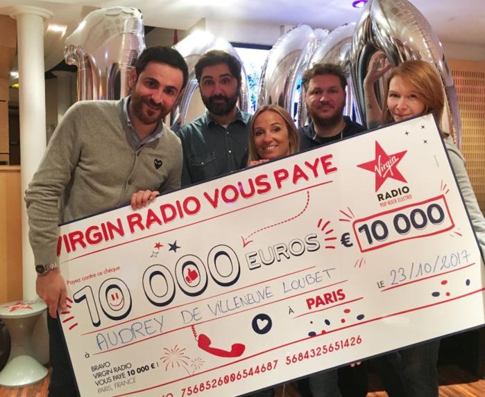 Hier matin, Audrey a gagné 10 000 euros sur Virgin Radio