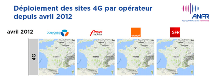 Plus de 37 500 sites 4G autorisés par l'ANFR en France