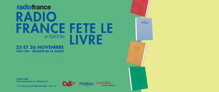 Radio France fêtera le livre les 25 et 26 novembre